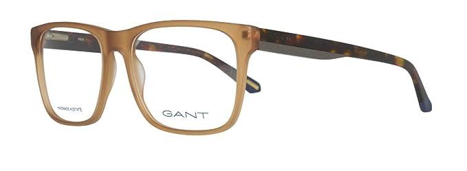 bfe435a5d5d5 Amazon.com  Gant GA 3122 046 54mm Matte Light Brown Eyeglasses  Clothing