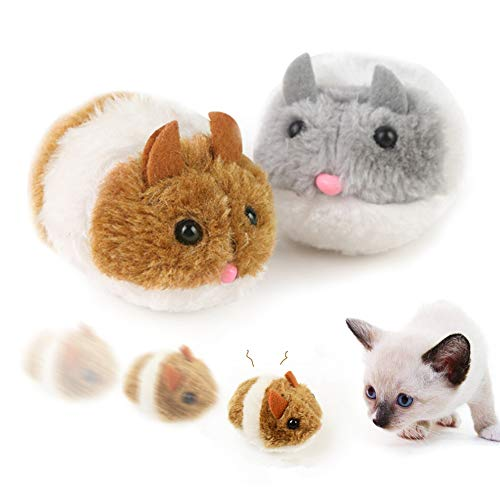 Cat Toy Plush Mouse Moving, Interactive Cat Toy Mouse, Pet Mouse Toys for Indoor Cats, Cat Toy Self Play for Kitty and…