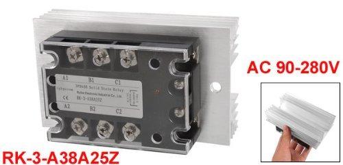 eDealMax AC 90-280V 3 Fase SSR relé de estado sólido W de aluminio del disipador de calor: Amazon.com: Industrial & Scientific