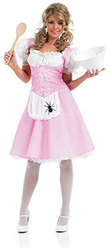 [LONGER LENGTH MISS MUFFET Adult Fancy Dress Costume All Sizes] (Miss Muffet Costumes)