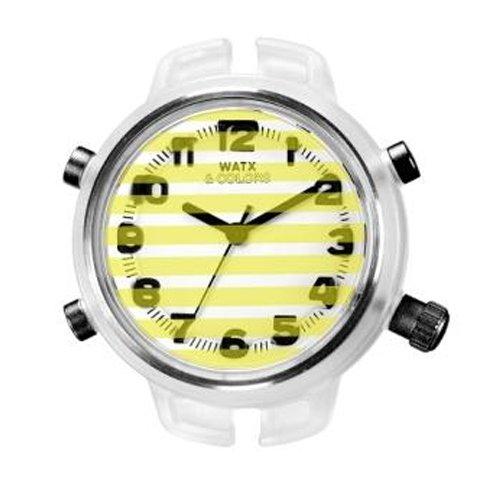 Reloj Watx Gloss & Stripes Rwa1557 Mujer Amarillo