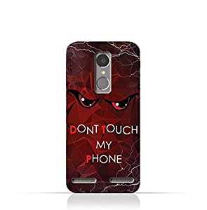 Lenovo K6 TPU Silicone Case With Don't Touch My Phone 3 Design