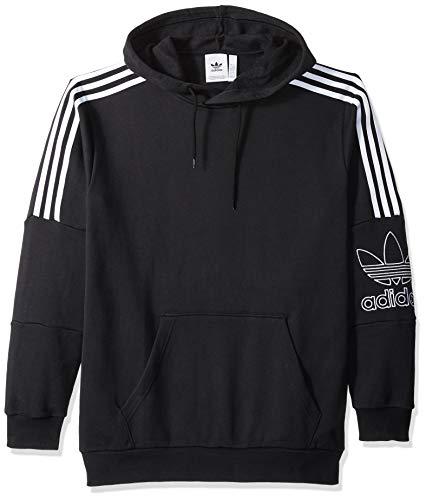 (adidas Originals Men's Outline Hoodie, Black, Large )