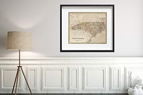 1841 Map World Atlas North Carolina Historic Antique Vintage Reprint Size: 20x24 Ready to ()