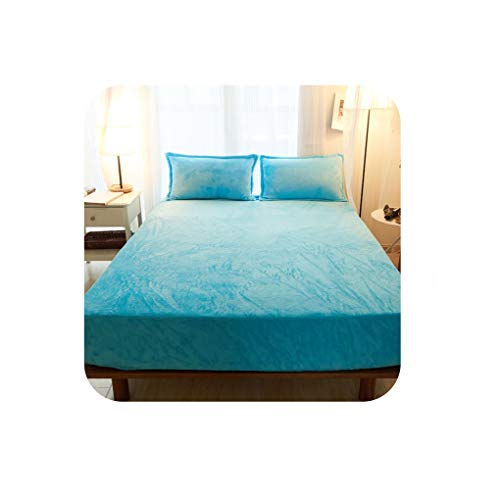 - Pretty-Shop sheets Fitted Sheet. Thickened Flannel Pure Color Style, Comfort and Warmth, Necessary in Winter,JA-h l,100x200cm 1Piece
