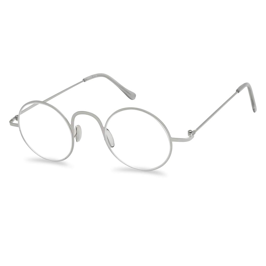 42f0aa4307 vintage round 45mm classic unisex rx optical prescription reading glasses  positive strength +1.00 - +3.50 (silver