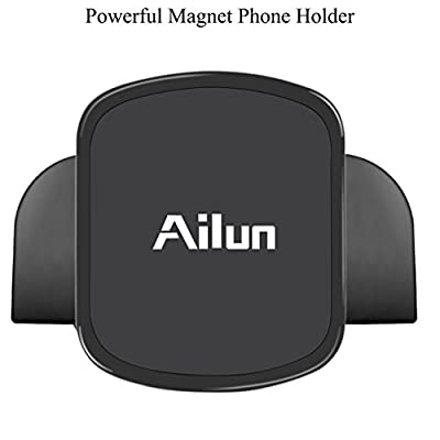Ailun Car Phone Mount CD Slot Magnetic Mount for iPhone X Xs XR Xs Max Galaxy s20, s20+ S20Ultra S10 Plus Combination kit with Car Radio Adapter FM Transmitter Bluetooth Adapter Charger