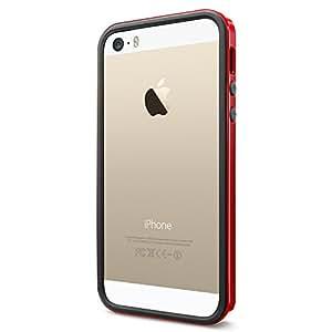 Spigen SGP10026 - Funda para iPhone 5 / 5S, Rojo