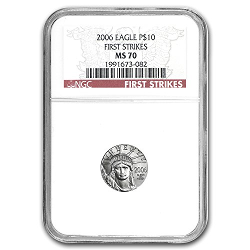 2006 1/10 oz Platinum American Eagle MS-70 NGC (First Strikes) $10 MS-70 NGC