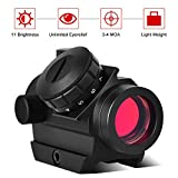 Cheap Red Dot Sight – Red Dot Scope with 3 MOA, Unlimited Eye Relief Sight for Hunting, Shooting, and Tactical Outdoor Activity, Mini Red Dot Rifle Scope 100% Waterproof, Fog-proof and Shockproof,1x25mm