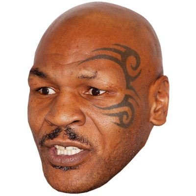 Mike Tyson Celebrity Mask, Card Face and Fancy Dress Mask ()
