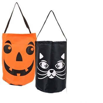 Halloween Trick or Treat Candy Tote Bags (Set of (Odd Halloween Candy)