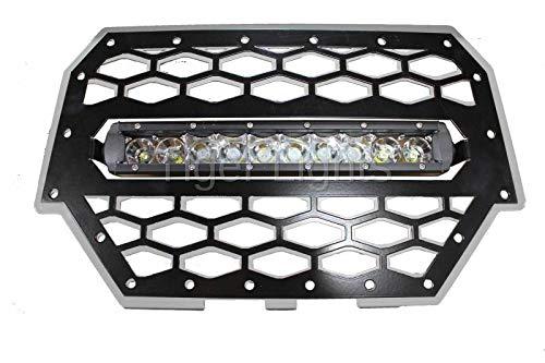 (Polaris RZR 900/1000 Silver Grille Light & 10