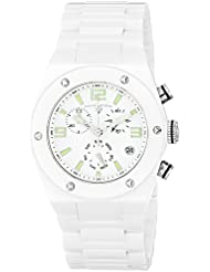 Swiss Legend Women's 10055-WWTSA Throttle Analog Display Swiss Quartz White Watch