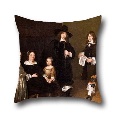 Pillowcover 16 X 16 Inches / 40 By 40 Cm(each Side) Nice Choice For Dance Room,bedroom,adults,monther,lover,father Oil Painting Gerhard Ter Borch - Portrait Of A - Texas Ter