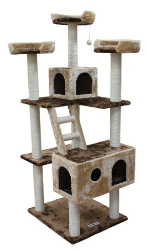 Kitty Mansions Beverly Hills Cat Tree, Brown/Beige by Kitty Mansions