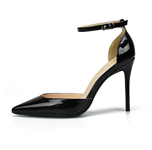 Black ZPL Strappy Heel Ladies Pointed Party Stiletto Shoes Strap High Pumps Size Women Toe Platform Sandals Ankle rqrCwTa