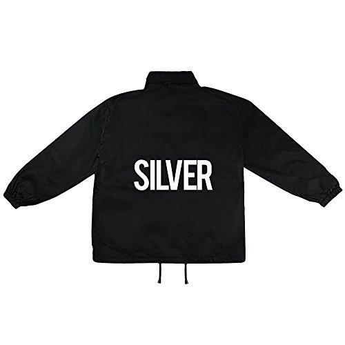 silver Motiv auf Windbreaker, Jacke, Regenjacke, Übergangsjacke, stylisches Modeaccessoire für HERREN, viele Sprüche und Designs