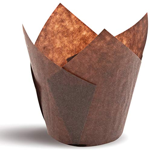 (Tulip Cupcake Liners, Natural Baking Cups for Standard Size Cupcakes and Muffins Liners (100,)