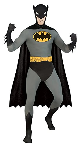 Batman 2nd Skin Bodysuit Adult Costume (Medium) (Batman 2nd Skin Costume)