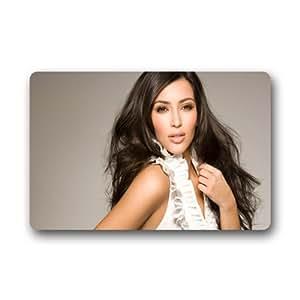 Kim Kardashian diseño de interior y al aire libre Felpudo personalizado personalizado machine-wahable neopreno de goma Felpudo 23,6x 39,88cm