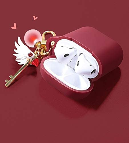 DHJ Airpods Case Color : Airpods1 Kawaii Card Captor Sakura Airpods Case Cover Dustproof Soft Silicone Airpods Protective Cover for Apple Airpods 1 /& 2 A-