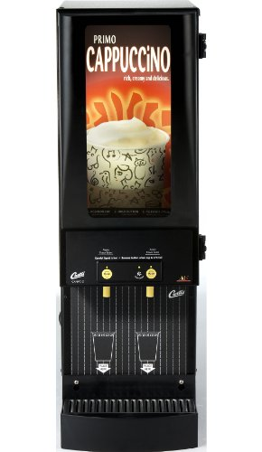 (Wilbur Curtis Café Primo Cappuccino with Lightbox 2 Station Cappuccino (4 Lb Hoppers) - Commercial Cappuccino Machine - CAFEPC2CL10000 (Each))