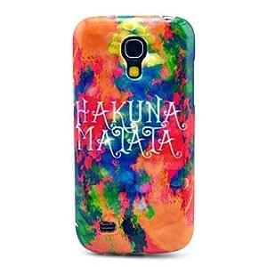 Kelaie Burning Clouds Hakuna Matata Pattern Hard Back Cover Case for Samsung Galaxy S4 Mini I9190 +Screen Protector