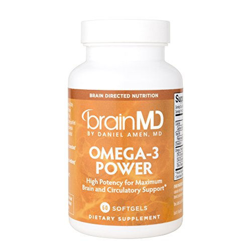 Dr. Amen BrainMD Health Omega-3 Power Dietary Supplement for Maximum Heart, Bone, Cognitive and Immune Support 60 Capsules