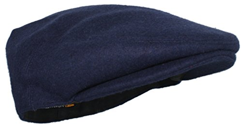 Ted and Jack - Street Easy Felt Newsboy Driving Cap with Plush Lining in Navy Size Medium