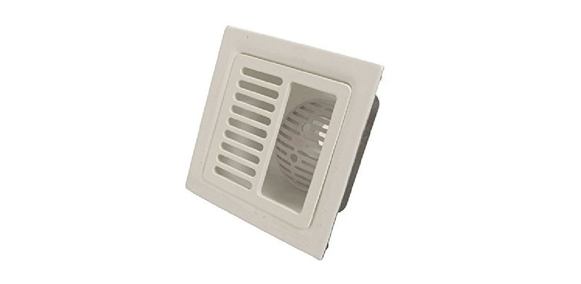 IPS 60500 12'' x 12'' Half Square Grate Floor Sink by IPS