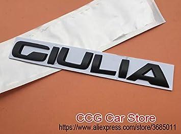 1PC 3D Metal ALFA ROMEO Giulia Logo Coche Trasero Adhesivo Lateral ...