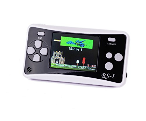 Price comparison product image Kids' Classic Retro Handheld Game Console, QINGSHE Portable Video Game Player 2.5'' LCD 8 Bit 152 in 1 Games , Arcade Style Old School Gaming System, Best Electronics Toys for Kids as Birthday Gift-Black