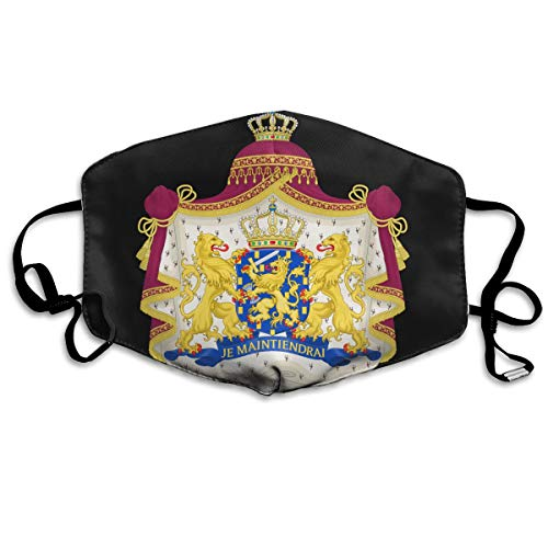 SDQQ6 Royal Coat of Arms of The Netherlands Mouth Mask Unisex Printed Fashion Face Mask Anti-dust Masks