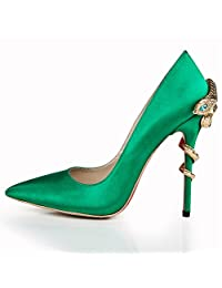 Shoemaker'S Heart Pointed Shoes Green Eyes Snakes And Heels Heels Shoes Shoes