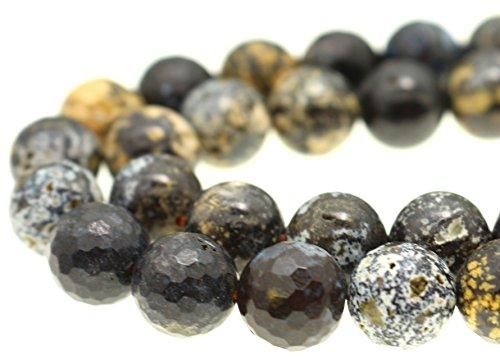 GoodBead Natural Blue Ocean Jasper Shiny Faceted Beads 15.5