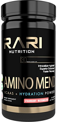 Nutrition Post (RARI Nutrition - AMINO MEND Post Workout Powder - Amino Acids + BCAA for Muscle Recovery, Strength, Endurance, and Hydration - Pre | Intra | Post - 30 Servings of Aminos - Strawberry Watermelon)