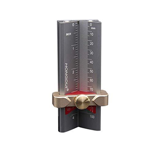DXX-HR 木工ドリルビットロケータ、フィクスチャ木工テーブルソーブレードの高さを測定するためのガイドロケータキット、アルミ合金ハイトゲージロケータをドリル