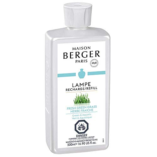 Fresh Green Grass | Lampe Berger Fragrance Refill for Home Fragrance Oil Diffuser | Purifying and perfuming Your Home | 16.9 Fluid Ounces - 500 millimeters | Made in France