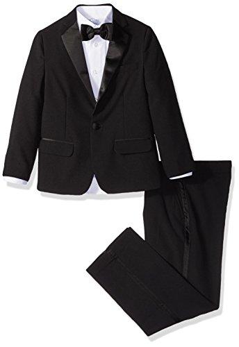 IZOD Big Boys' Formal Tuxedo Dresswear Set, Black, 12 by IZOD