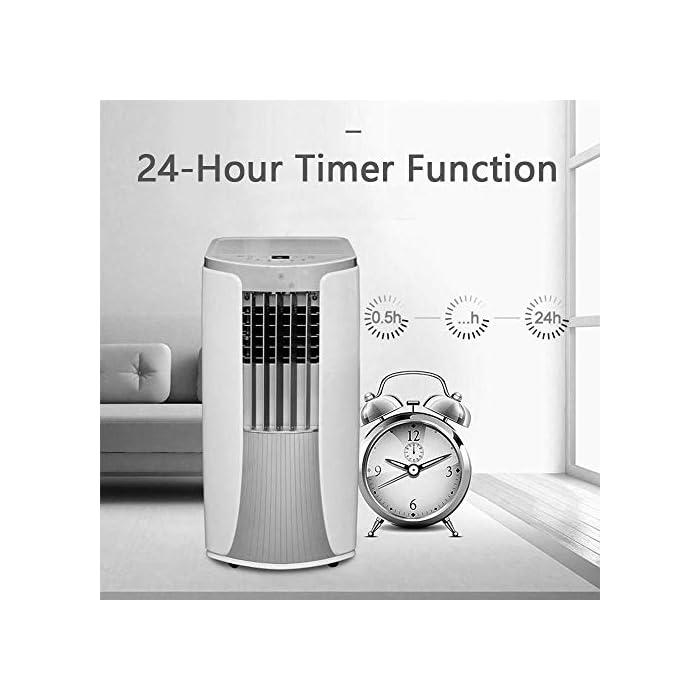 41vFur6AZCL Multifunción: aire acondicionado de enfriamiento portátil con ventilador y función de deshumidificación, incluida la manguera de escape. Función de enfriamiento: la capacidad de súper enfriamiento, con sistema de filtro de aire, puede mejorar la calidad del aire. Función de deshumidificación: se puede usar independientemente de la función de aire acondicionado, lo que le permite extraer el exceso de humedad de la atmósfera todos los días.