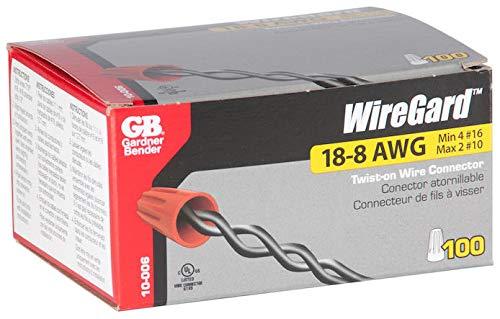 GB Gardner Bender 10-006 Wiregard Red Wire Connectors 100 Count
