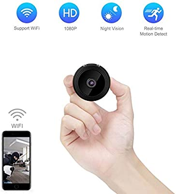 [Newest 2018 Upgraded] Hidden Spy Camera 1080p Home - Mini FullHD Small Advanced Security Motion Spy Cam Night Vision Audio Mounts - No WiFi by M MORVELLI