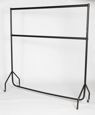 Kleiderständer, 2 Ebenen, Breite 152cm, schwarz
