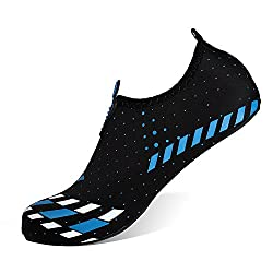 Heeta Barefoot Water Sports Shoes For Women Men Quick Dry Aqua Socks For Beach Pool Swim Yoga Black Blue Xxl