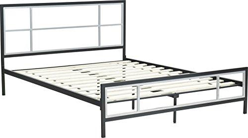 Flex Form Lucia Metal Platform Bed Frame / Mattress Foundation with Headboard and Footboard, (Platform Bed Kit)