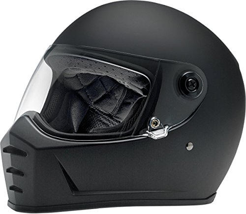 Biltwell Lane Splitter Solid Full-face Motorcycle Helmet - Flat Black/Small (Motorcycle Helmet Flat Black)