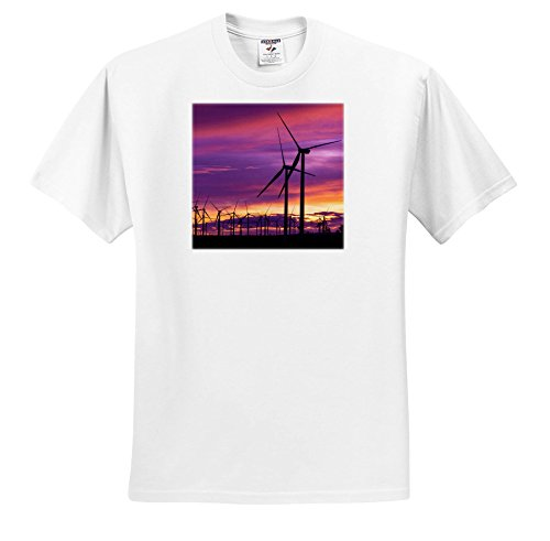 3dRose Danita Delimont - Sunsets - Silhouetted Wind Turbines at Sunset, Mojave, California, USA - T-Shirts - Toddler T-Shirt