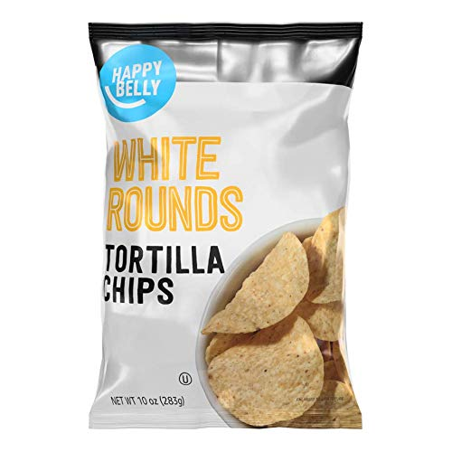 Amazon Brand - Happy Belly White Rounds Tortilla Chips, 10 oz
