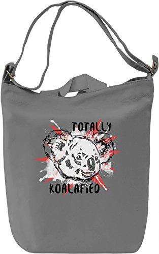 Totally Koalafied Borsa Giornaliera Canvas Canvas Day Bag| 100% Premium Cotton Canvas| DTG Printing|